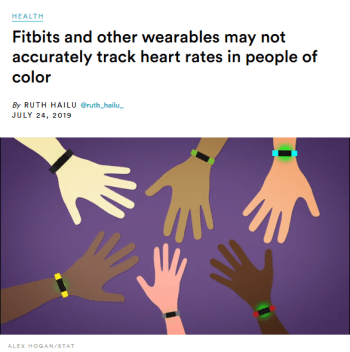 Stat: Fitbits and other wearables may not accurately track heart rates in people of color