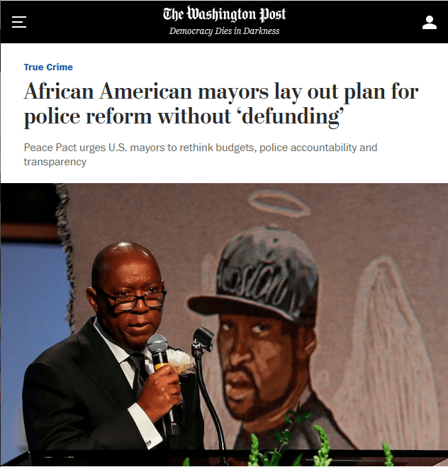 WaPo: African American mayors lay out plan for police reform without 'defunding'