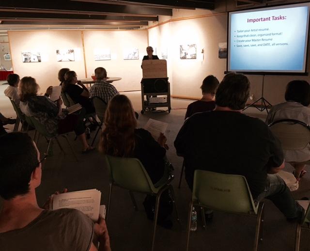 Organization for the Artist workshop w/ Elizabeth Eero Irving