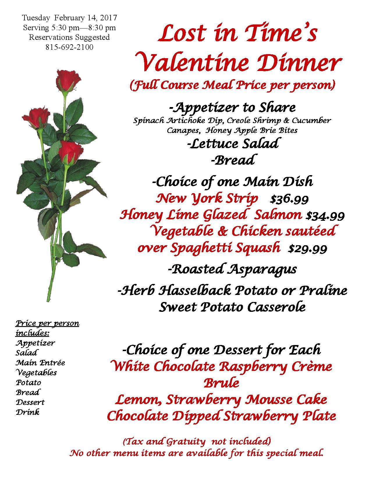 214 Valentine Dinner Fairbury Illinois Attractions