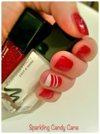 Nail Design  Sparkling Candy Cane  fairdelight