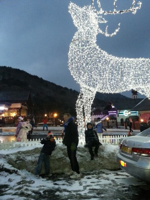 Muju lights up in Christmas