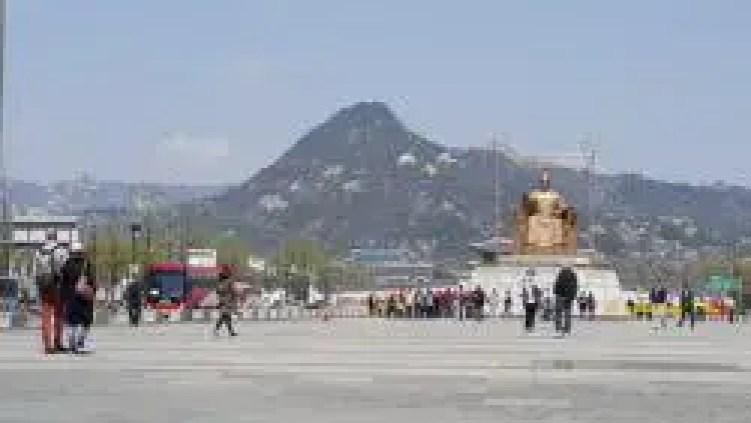 Mountain at the backdrop of Gyeongbokgung, South Korea