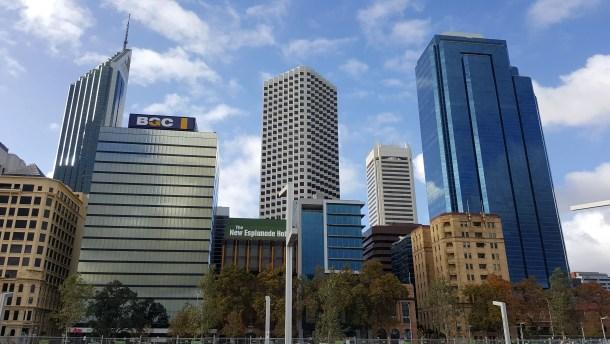 The Perth CBD.