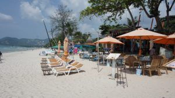 It's all happening on the beach in Chaweng.