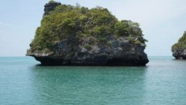 Small islands make up this Marine Park but not all are this small.