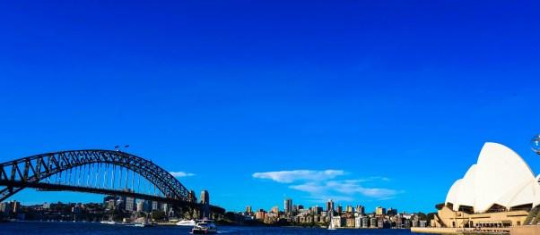 The Harbour Bridge meets the Opera House.