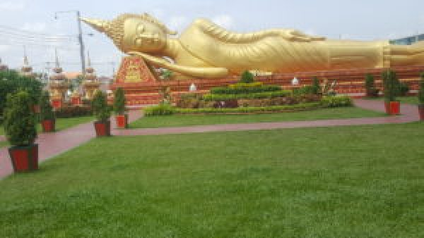 Lying Buddha at Golden Palace, Laos