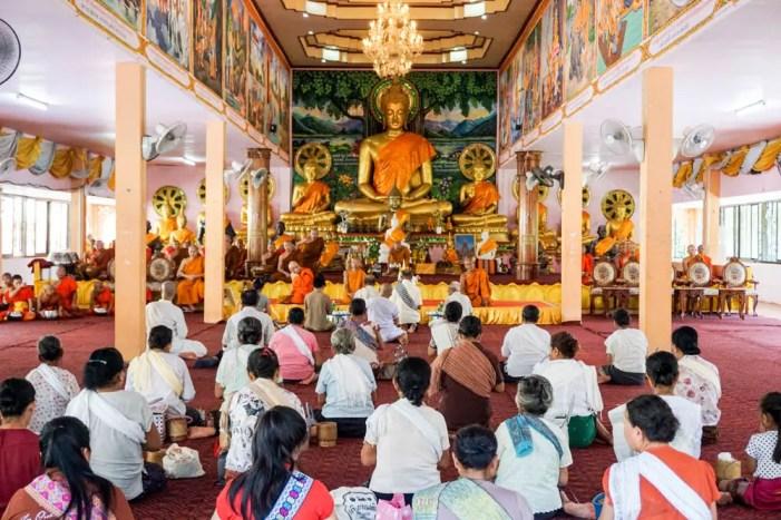 Morning prayer in Laos