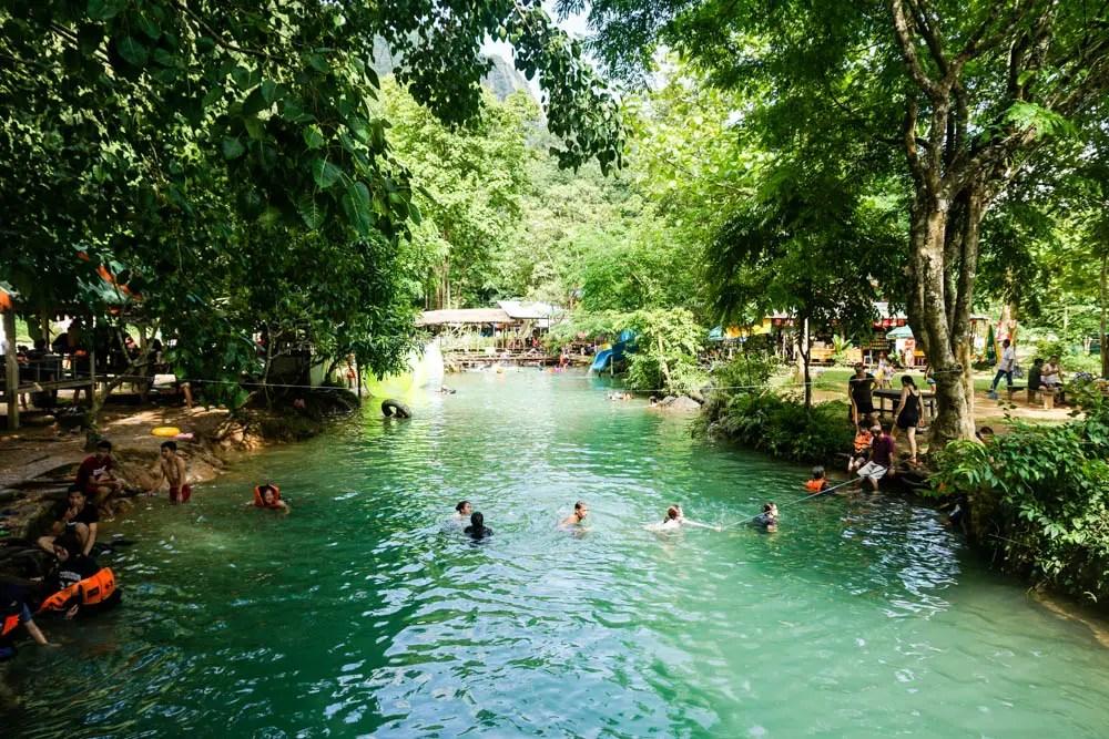 The Blue Lagoon in Vang Vieng – Laos