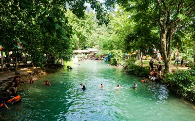 The Blue Lagoon in Vang Vieng – Laos
