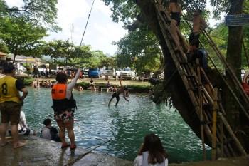 splashing at the Lagoon