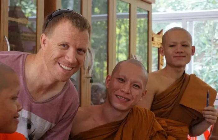 teaching monks - Laos