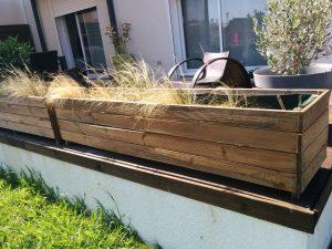 jardinière en bois terrasse faire soi-même