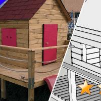 Cabane pour enfant sur pilotis