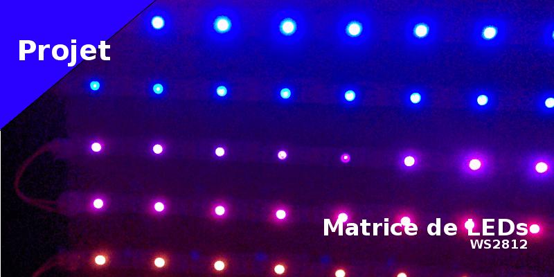 Matrice de LEDs (ws2812) pour Noël