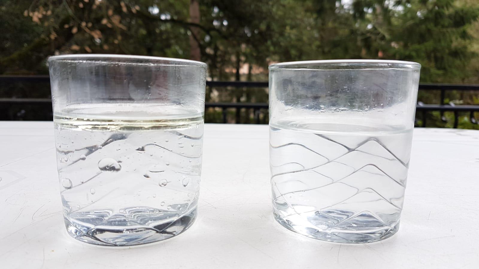 Observation clous eau expérience