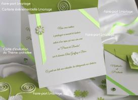 carte d'invitation orchidée Lmariage