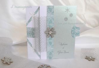 faire-part mariage hiver flocon