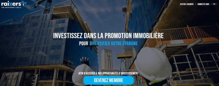 Investir en crowdfunding immobilier avec Raizers.com 100€ de bonus pour 1000€ investis dans un projet avec Raizers