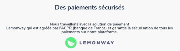 Bricks.co a signé un accord avec LemonWay pour la sécurisation des fonds et pour avoir un agrément par l'ACPR via Lemonway.
