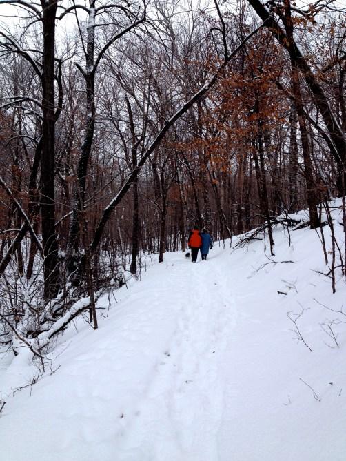 walking in Stanley Eddy Memorial Park