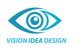 Vision Idea Design logo highlights the craft of Russ McInstosh