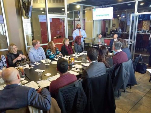 Fairfax business leaders introduce themselves at Patriots Pub & Grill