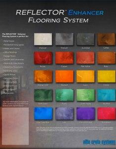 Color chart reflector elite crete also garage floor epoxy contractor northern virginia fairfax rh fairfaxcontractor