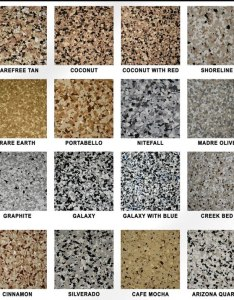 Snowflake color chart elite crete also garage floor epoxy contractor northern virginia fairfax rh fairfaxcontractor