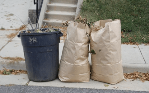 temporary suspension of curbside pickup of yard waste