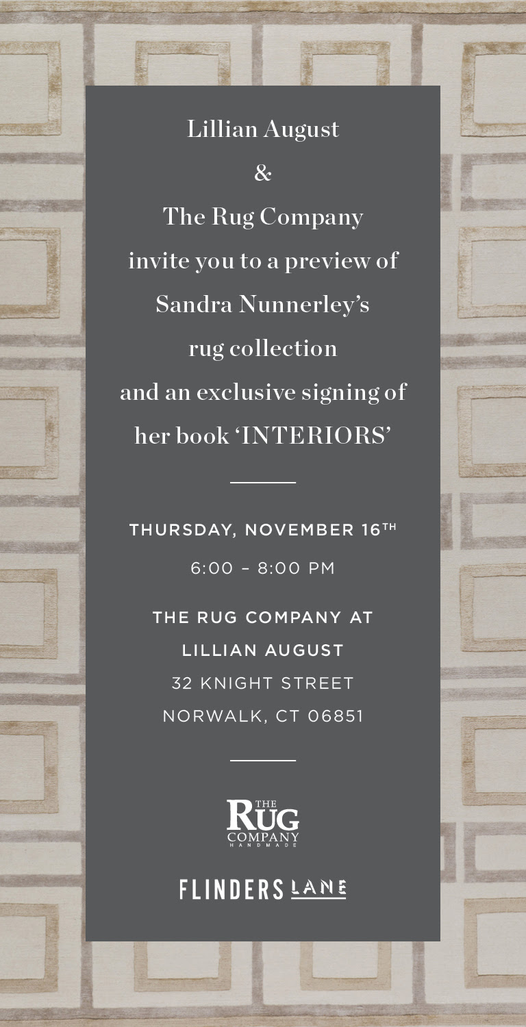 Sandra Nunnerly: Exclusive Preview of Her Rug Company Collection at Lillian August