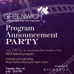 Greenwich International Film Festival - Program Announcement Party at RICHARDS