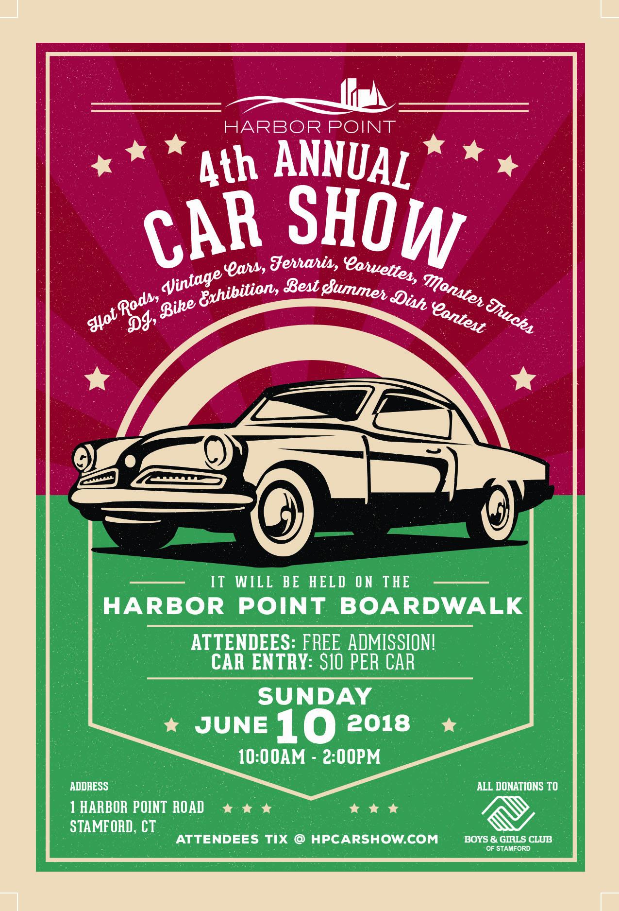 Harbor Point Th Annual Car Show - Car show sunday
