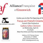 Pre Opening Of Focus On French Cinema French Film Festival at Gilles Clement Gallery