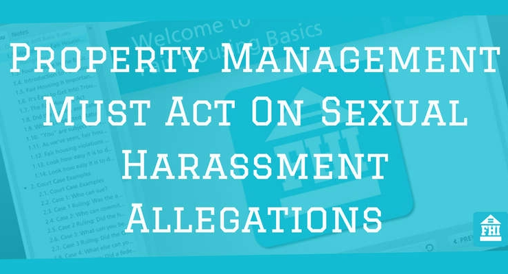 Property Management Must Act On Sexual Harassment Allegations