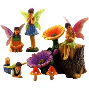 Fairy Garden Flower Stump Set