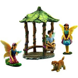 Fairy Garden Gazebo & Accessories Set