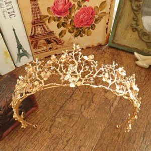 Gold Flower Tiara