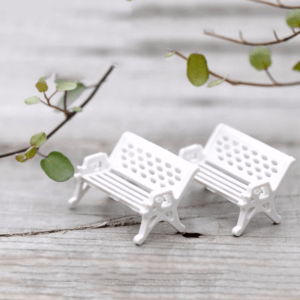 2 Miniature Chairs for Fairy Garden / Terrarium