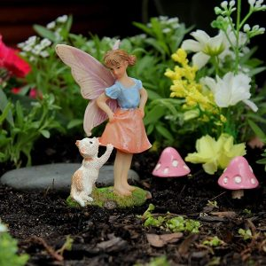 Fairy Ava and Cat – Fairy Garden Fairy Figurine
