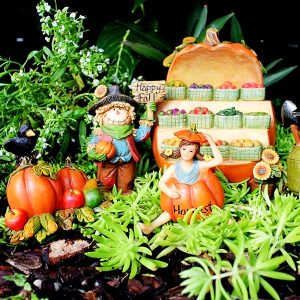Fairy Garden Vegetable Stand with Scarecrow & Accessories by Pretmanns