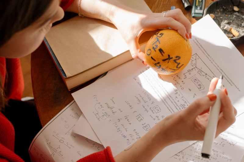 person holding orange round ball