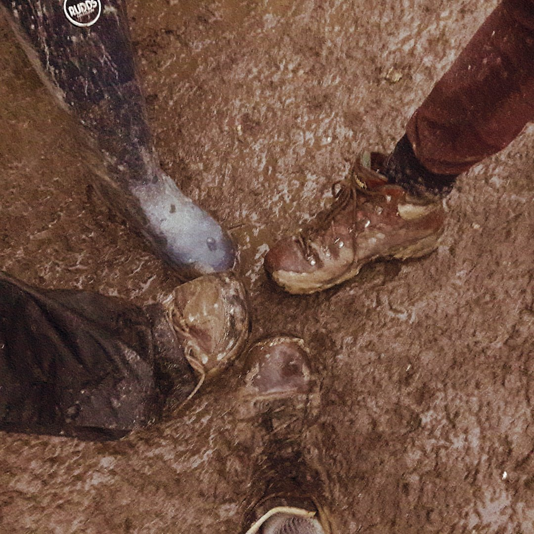 Image of muddy boots illustrating Fairisle home page text Has your change initiative got bogged down