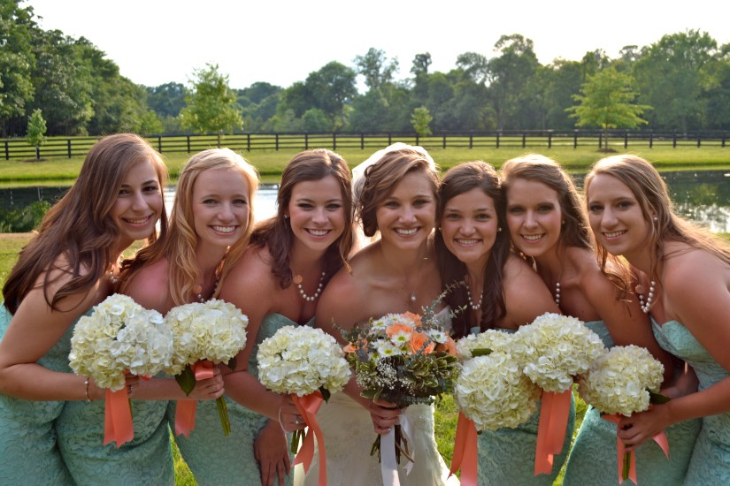 NC Farm Wedding with Accents of Apricot and Mint - Fairly Southern