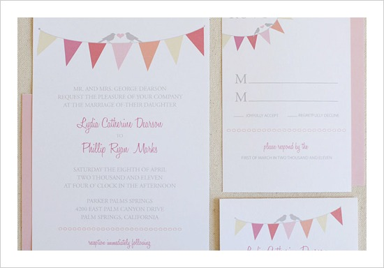 FREE Bunting Wedding Invitation Suite by Wedding Chicks - Fairly Southern