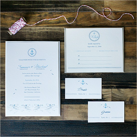 FREE Nautical Wedding Invitation Suite by Wedding Chicks - Fairly Southern