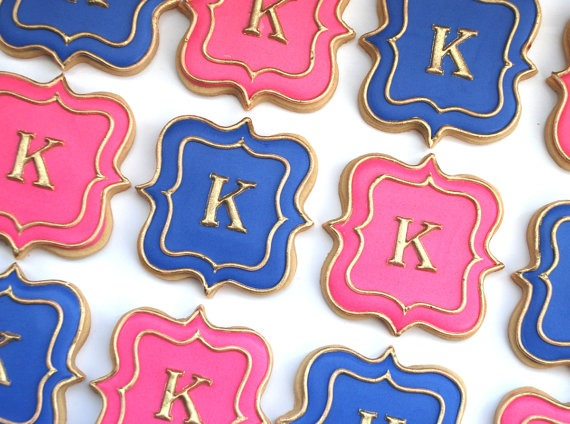Monogrammed Sugar Cookie Wedding Favors - Fairly Southern