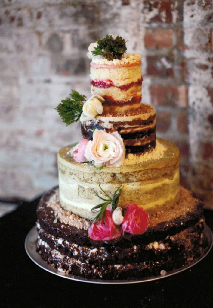 Least Favorite Wedding Trend of 2014 - Naked Wedding Cakes - Fairly Southern