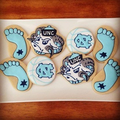 UNC Sugar Cookie Wedding Favors - Fairly Southern